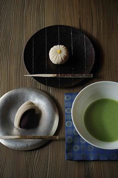 Matcha tea and Japanese sweets Japanese Matcha Tea, Japanese Sweets, Matcha Green Tea, Japanese Food, Desserts Japonais, Japanese Tea Ceremony, Green Tea Powder, Tea Art, Confectionery