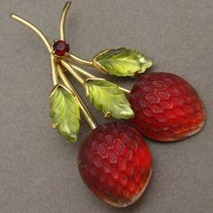 Austria Fruit Pin Vintage Strawberries Berries Austrian Brooch | eBay
