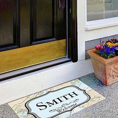 "Amazon.com : Personalized Name ""Smith"" Nautical Welcome Door Mat 18""x26"" : Patio, Lawn & Garden"