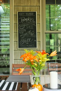 Ode to Pumpkin and Spice: A Fall Chalkboard
