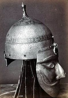 INDO PERSIAN HELMET AND WAR MASK....PARTAGE OF SAMURAIANTIQUEWORLD........