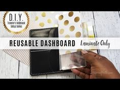 DIY Traveler's Notebook Setup Series: Create a Reusable Laminated Dashboard w/ Laminate Pouches - YouTube