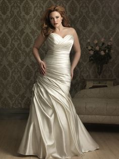 2feab06779a Buy Allure Bridals W284 Plus Size Wedding Gown today at MadameBridal.com  authorized retailer store