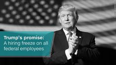 """Donald Trump has promised to """"drain the swamp"""" in Washington D.C. One of the many ways he plans to do that is by trimming the federal government workforce. America has 2.1 million civilian federal workers. It rose by nearly 130,000 people under President Obama, according to figures from the Office of Management and Budget and the Labor Department. It's an increase, but a modest one of 6.5%."""
