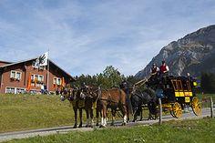Historische Postkutschenfahrten - Säntis der Berg : Säntis die Schwebebahn