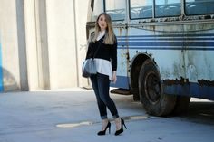 NYAM's Style: LIGHT BLUE AND VINTAGE BUS.