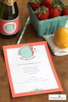 Pretty Free Summer Grilling Party Printables.