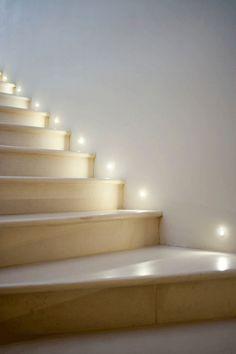 Stairway lighting for basement stairway