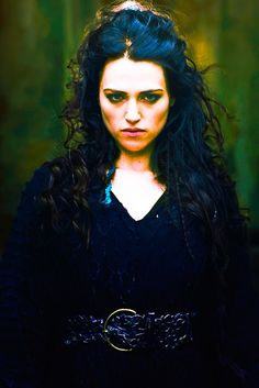 "BBC ""Merlin"" - Katie McGrath as Morgana. I use to like Morgana...then she turned evil and I loved her."