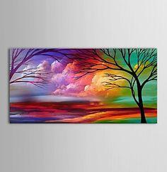 Ручной росписью холст современная пейзаж природные пейзажи живопись для гостиной спальня декора картины для гостиной помещения уолл-декор