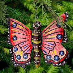 Haitian Recycled Steel Butterfly Ornament