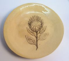 Items similar to Protea sketch or flower painting ceramic plate on Etsy Painted Ceramic Plates, Ceramic Painting, Side Plates, Plate Sets, Earthenware, Sketching, Ceramics, Tableware, Flowers