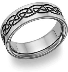 Titanium Wedding Rings mens titanium wedding band - - Shop a selection of men's Celtic wedding rings, including Celtic knot, Trinity knot, and Claddagh styles. Antique Wedding Rings, Custom Wedding Rings, White Gold Wedding Rings, Wedding Rings For Women, Mens Celtic Wedding Bands, Black Titanium Wedding Bands, Wedding Ring Bands, Titanium Jewelry, Celtic