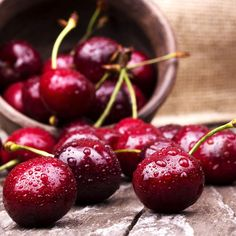 Cherries contain naturally occurring chemicals called anthocyanins, which could help lower blood sugar levels in people with diabetes. A study published in the Journal of Agricultural and Food Chemistry found anthocyanins could reduce insulin production by 50 percent.                                                                                                                                                     More