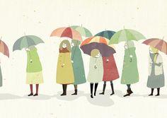 「傘の群」 by 「FCO」