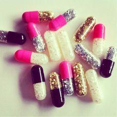 Glitter pills just in case of emergency!