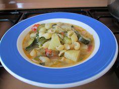 Minestrone  aux  legumes   et   coquillettes de  pasta   Gino D'Aquino.