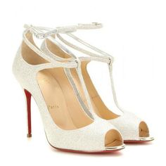 Christian Louboutin - Talitha 100 glitter sandals #shoes #christianlouboutin #women #designer #covetme