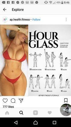 Hour glass shape workout