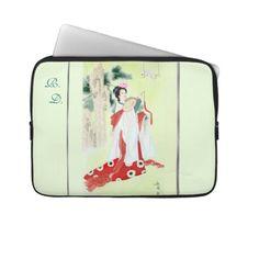 Elegant Laptop Sleeve w/ Chinese Motif & Initials
