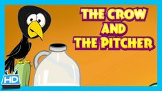 The Crow and The Pitcher Story | The Thirsty Crow Story In English by Ki...