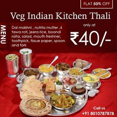 Life is good when you get your favourite Thali at flat 50%off!! Click here fill your tummy with some delicious food. Order now at flat 50% off. Offer valid on android app only. Download our Alatiffy app today!! #Lunch #Homemade #HomeFood #HealthyFood #Tasty #Lunch #Alatiffy