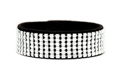 Boho Betty Silver Mesh bracelet - Dubai Dazzle collection - Get noticed with this bold, playful cuff! Shimmering rows of metallic silver studs on jet-black faux suede mimic the opulent city skyline amidst the deep of the desert night. #LoveBohoBetty #BohoBetty #Fashion #Jewelry