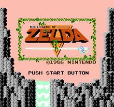 Legend of Zelda (NES) Intro - Yep. I played legend of zelda on nintendo. The golden cartridge game. Here is the intro. Have the game on the nintendo Wii now. The Legend Of Zelda, Original Legend Of Zelda, Safari, Bubble, Nes Games, Nintendo Games, Nintendo 64, Arcade Games, Game Title