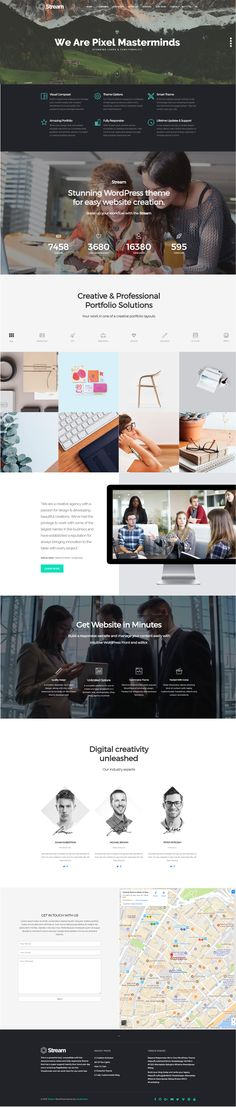 Build any One-Page site design without coding https://visualmodo.com/theme/stream-wordpress-theme/ #webdesign #template #plugins #theme #WordPress #LandingPage #theme