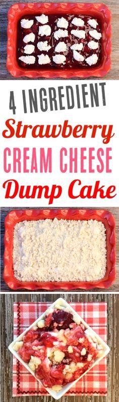 Easy Dump Cake Recipes with Fruit Pie Fillings make the BEST desserts! This Str… Easy Dump Cake Recipes with Fruit Pie Fillings make the BEST. Strawberry Cheesecake, Strawberry Recipes, Fruit Recipes, Dessert Recipes, Easy Holiday Desserts, Köstliche Desserts, Delicious Desserts, Recipes Using Cake Mix, Dump Cake Recipes