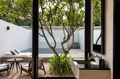 Luxury poolside suite at Amansara, Angkor Cambodia.