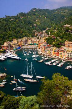 Tiny harbor town of Portofino, Liguria, Italy...