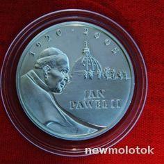 Отличный Польша 10 ллотых Ян Павел II   СЕРЕБРО   в коллекцию  с Рубля аукцион   Newmolot.ru - торговая площадка