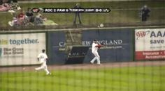 the other paper: Minor Leaguer's leaping catch brings down outfield...
