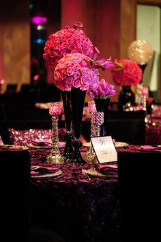 I love these flowers...perfect for a pink, black, and white wedding!