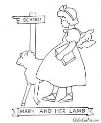 Vintage Embroidery Patterns Mary and her lamb ABC Coloring Book for Labor Day Learn Embroidery, Hand Embroidery Patterns, Vintage Embroidery, Embroidery Stitches, Machine Embroidery, Nursery Patterns, Craft Patterns, Lazy Daisy Stitch, Embroidery Techniques