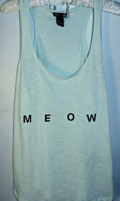 Mint 'Meow' Tank by IndieRenewal on Etsy