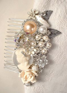 OOAK Vintage Shades of Ivory Pearl Clear by AmoreTreasure on Etsy, $103.98