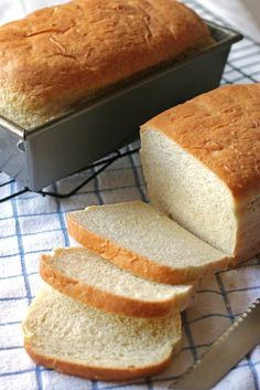 """Batterway White Bread  ...""""Our Batterway White Bread is the perfect recipe for the yeast beginner. It's a quick and easy bread with no kneading required.""""   Red Star Yeast"""