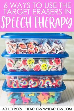 6 Ways To Use Mini Erasers In Speech Therapy - Sweet Southern Speech