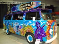 1970s hot rod vans | 1970 VW Transporter – Hippy Bus