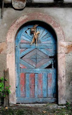Old door, Eguisheim, Alsace, France·