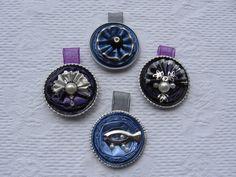 Il viola e l'azzurro - ciondoli- fatti con capsule Nespresso