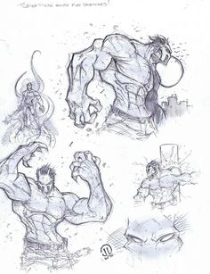 Splatter house warmup sketches by JoeyVazquez