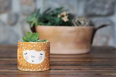 Hey, I found this really awesome Etsy listing at https://www.etsy.com/listing/194833461/ceramic-planter-in-honey-color-plant