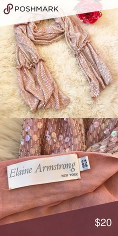 Elaine Armstrong Sequin Scarf Stunning sequined scarf made of 100% silk 💖 Elaine Armstrong Accessories Scarves & Wraps