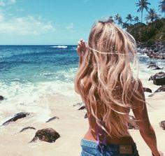 Long Blonde Beach Hair                                                                                                                                                                                 More
