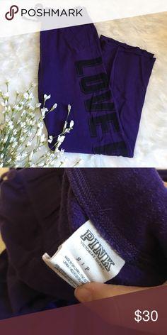Pink Victoria's Secret Boyfriend Fit Purple Sweats No stains, rips, or tears. 20% off bundles, open to offers PINK Victoria's Secret Pants Track Pants & Joggers