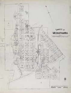 MEEKATHARRA Cadastral map showing land use. Part of collection: Townsite maps, Western Australia. https://encore.slwa.wa.gov.au/iii/encore/record/C__Rb1936202