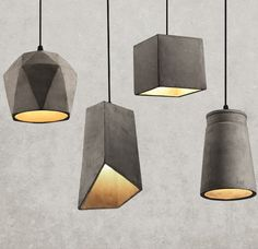 Industrial Loft Style Vintage Cement Droplight Edison Pendant Light Fixtures For Dining Room Bar Hanging Lamp Indoor Lighting